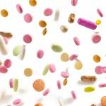Various falling pills — Stock Photo #50196117