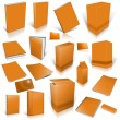 Orange 3d blank cover collection — Stock Photo #12498615