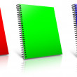 Stock Photo: Spiral RGB binder.
