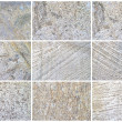 Twelve Natural Limestone Background or textures — Stock Photo #13566619