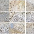 Twelve Natural Limestone Background or textures — Стоковая фотография