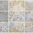 Twelve Natural Limestone Background or textures - Stock Photo