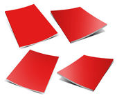 Empty red magazine on white — Stock Photo