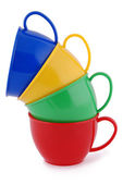 Collection of children's toys cups (Clipping path) — Stock Photo