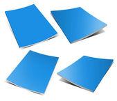 Empty blue magazine on white — Stock Photo