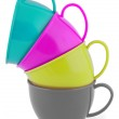 Collection of children's toys cups (Clipping path) — Stockfoto