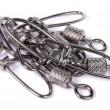 Many fishing swivel — Stock Photo