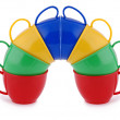Collection of children's toys cups — Stock Photo