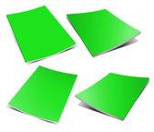 Empty green magazine on white — Stock Photo
