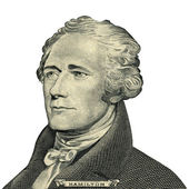 President Alexander Hamilton portrait (Clipping path) — Stock Photo