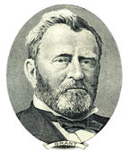 Ulysses S. Grant portrait cutout (Clipping path) — Stock Photo