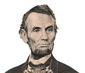 President Abraham Lincoln portrait (Clipping path) — Stock Photo