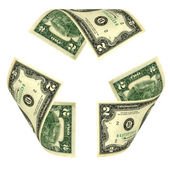 Dollar Bill Recycle Sign — Stock Photo