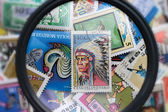 Postage stamps of different countries and times — Stock Photo