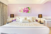 The contemporary pink bedroom — Stock Photo