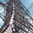 Close-up power pylon — Stock Photo