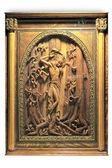 Carved picture Saint Sebastian — Stok fotoğraf
