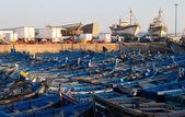 Fishing bboats in port — Stock Photo