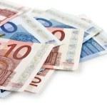 Euro money banknotes — Stock Photo