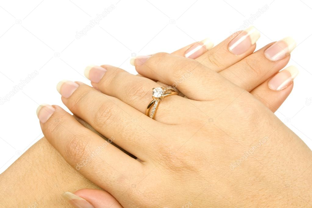 Ring in hand — Stock Photo #13912863