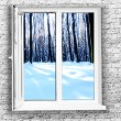 Stock Photo: White plastic window
