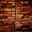 Old grunge brick wall background — Stock Photo