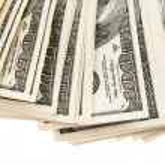 Dollars on white background — Stock Photo #31753683