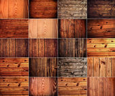 Collection of wood background — Stock Photo