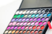Colorful eye shadows palette — Stock Photo