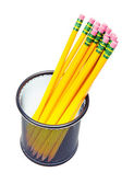 Lead pencils in metal pot — Stock Photo