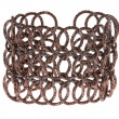 Bracelet made of copper wires — Stock Photo