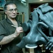 Photo: Sculptor in workshop