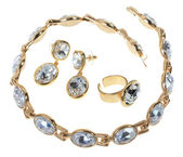 Set gold plated jewelry — Stock Photo