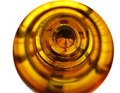 The bottom of an empty beer bottle — Stok fotoğraf
