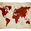 World map on paper - Stock Photo