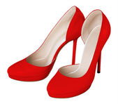 Red women shoes — Stock Photo