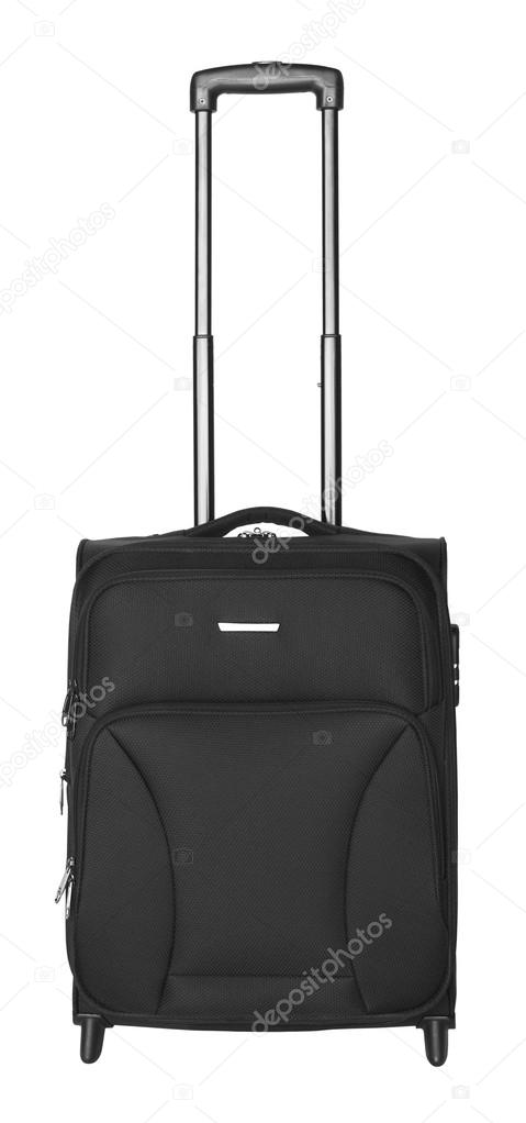 Black suitcase isolated on white background — Stock Photo #12641295