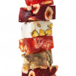 Sweet turkish delights with nuts — Stock Photo #14063211