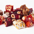 Sweet turkish delights with nuts — Stock Photo #14063267