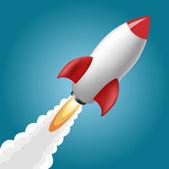 Roket uzay gemisi — Stok Vektör