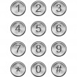 Stock Photo: Metal keypad