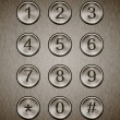Metal keypad — Stock Photo