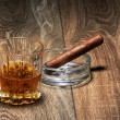 Whiskey and Cigar — Stock Photo #23835339