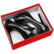 Black woman shoes in box — Photo