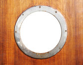 Old porthole — Stock Photo