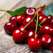Cherry with leaf — Photo