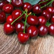 Cherry with leaf — Lizenzfreies Foto