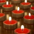Candles in darkness — Stock Photo #3375867