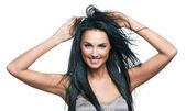 Beautiful portrait of european young woman — Stock Photo