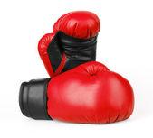 красные перчатки боксерские — Стоковое фото